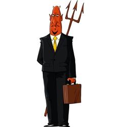 devil in a tie vector image vector image