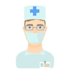 Doctor icon cartoon style vector