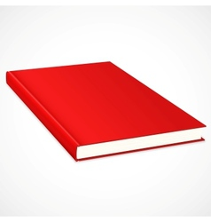 Empty book with res cover vector image