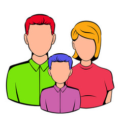 family icon cartoon vector image