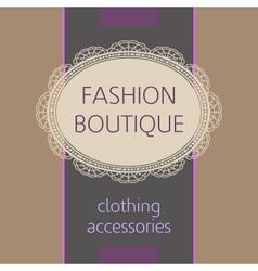 fashion boutique vector image vector image