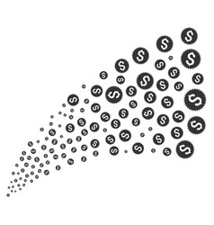 financial seal source stream vector image vector image