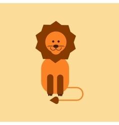 flat icon on background cartoon lion vector image