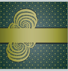 Floral abstract background with ribbon vector