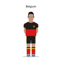 Football kit belgium vector