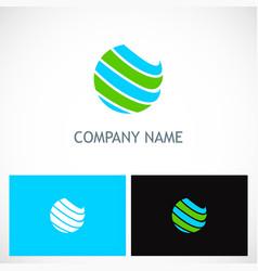 Globe sphere colored planet logo vector