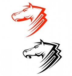 horses symbols vector image vector image