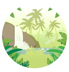 Jungle flat background16 vector