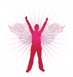 love angel vector image vector image