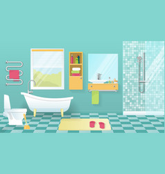 Modern Bathroom Interior vector image vector image