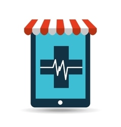 Online pet shop and clinic symbol vector