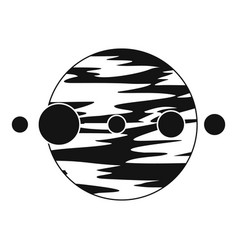 planet and moons icon simple style vector image vector image