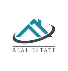 real estate house roof icon vector image