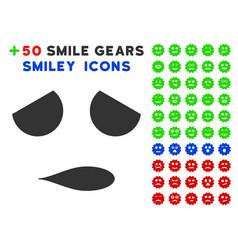 sad emoticon smile icon with bonus smiley vector image vector image