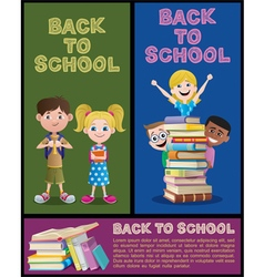 School Banner Set Part 2 vector image vector image