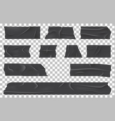Scotch or ripped adhesive bandage sticky tape vector