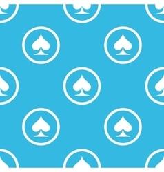 Spades sign blue pattern vector