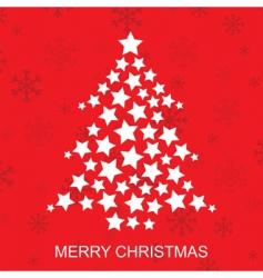 star Christmas tree vector image vector image