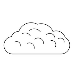Winter cloud icon outline style vector