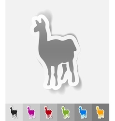 Realistic design element lama vector