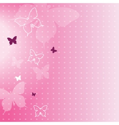 Abstract spring butterfly background vector