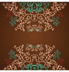 Excellent brown floral pattern design background vector