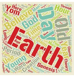 Old earth belief text background wordcloud concept vector
