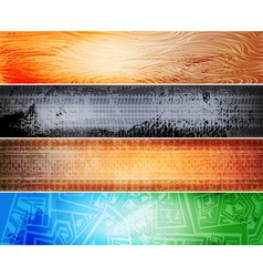 Grungy banners vector