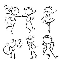 Different dance moves vector image