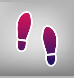Imprint soles shoes sign  purple gradient vector