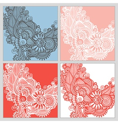 Collection of modern ornamental template vector