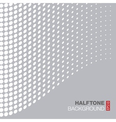 Abstract Gray - White Halftone Background vector image
