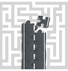Bridge of puzzles through the maze vector