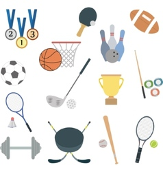 set of flat sport icons vector image