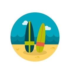 Surfboard flat icon vector