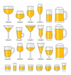 Alcohol glasses set vector