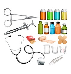 Medical equipment and container vector