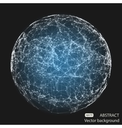 Abstract mesh spheres futuristic atom vector