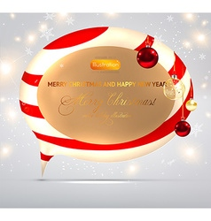 Shiny christmas banner vector
