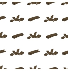 Hand drawn seamless pattern with cinnamon vector