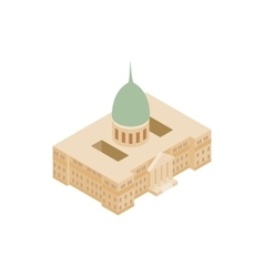 Argentine national congress palace icon vector
