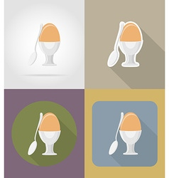 objects for food flat icons 11 vector image