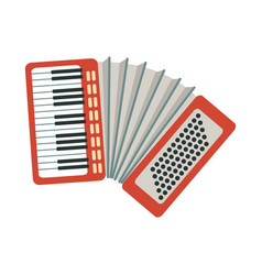 Accordion part of musical instruments set of vector