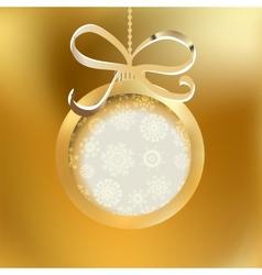 Beautiful golden christmas ball EPS8 vector image vector image