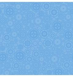 Blue Cogwheels Pattern vector image vector image