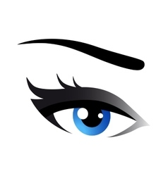 Blue woman eye vector