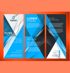 Business trifold brochure or banner template vector