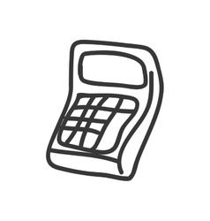 Calculator icon Sketch design graphic vector image