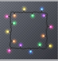 Colorful garlands with shape of stars holiday vector