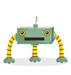 Cute cartoon robots vector image vector image